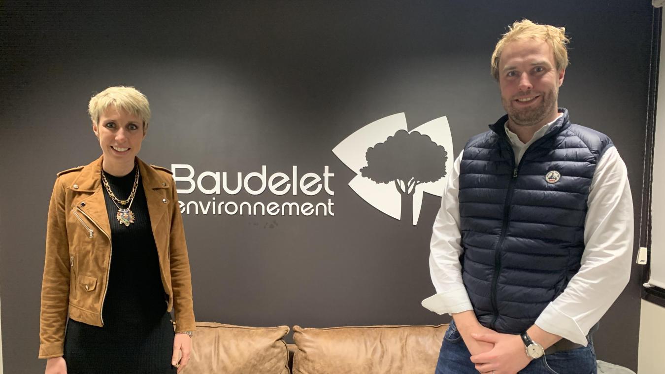 Caroline et Jean-Baptiste Poissonnier dirigent l'entreprise Baudelet à Blaringhem.