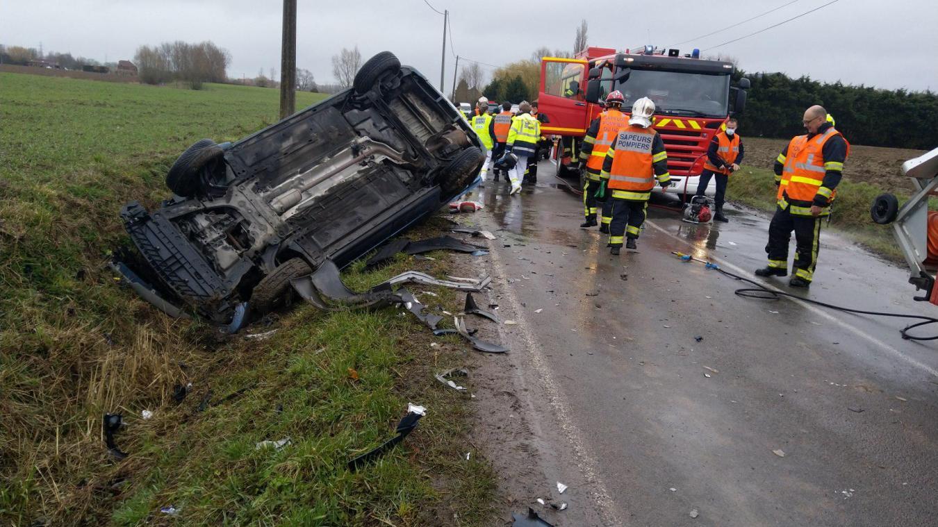 L'accident s'est produit jeudi 18 mars entre Estaires et La Croix du Bac.