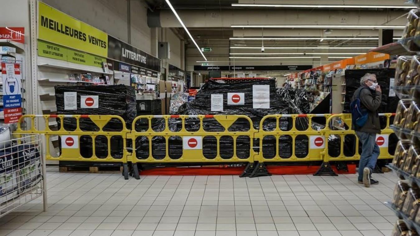 Fermeture des commerces et rayons non-essentiels dans les Hauts-de-France, librairies et disquaires resteront ouverts