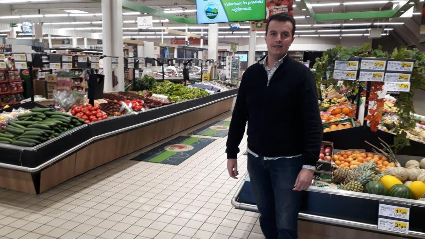 À l'Intermarché de Bapaume, on paie le coût de la proximité géographique avec la Somme et le Nord.