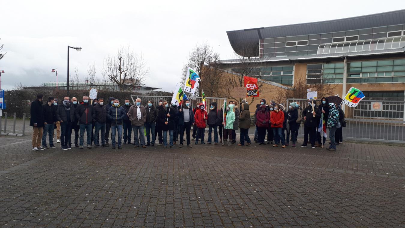 Plus de la moitié des enseignants de Vinci étaient en grève ce jeudi.