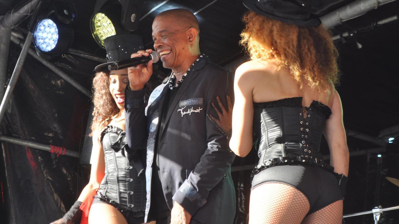 Francky Vincent devrait être sur la scène de Merville le 14 juillet, tout comme Ève Angeli. (Photo d'archives)