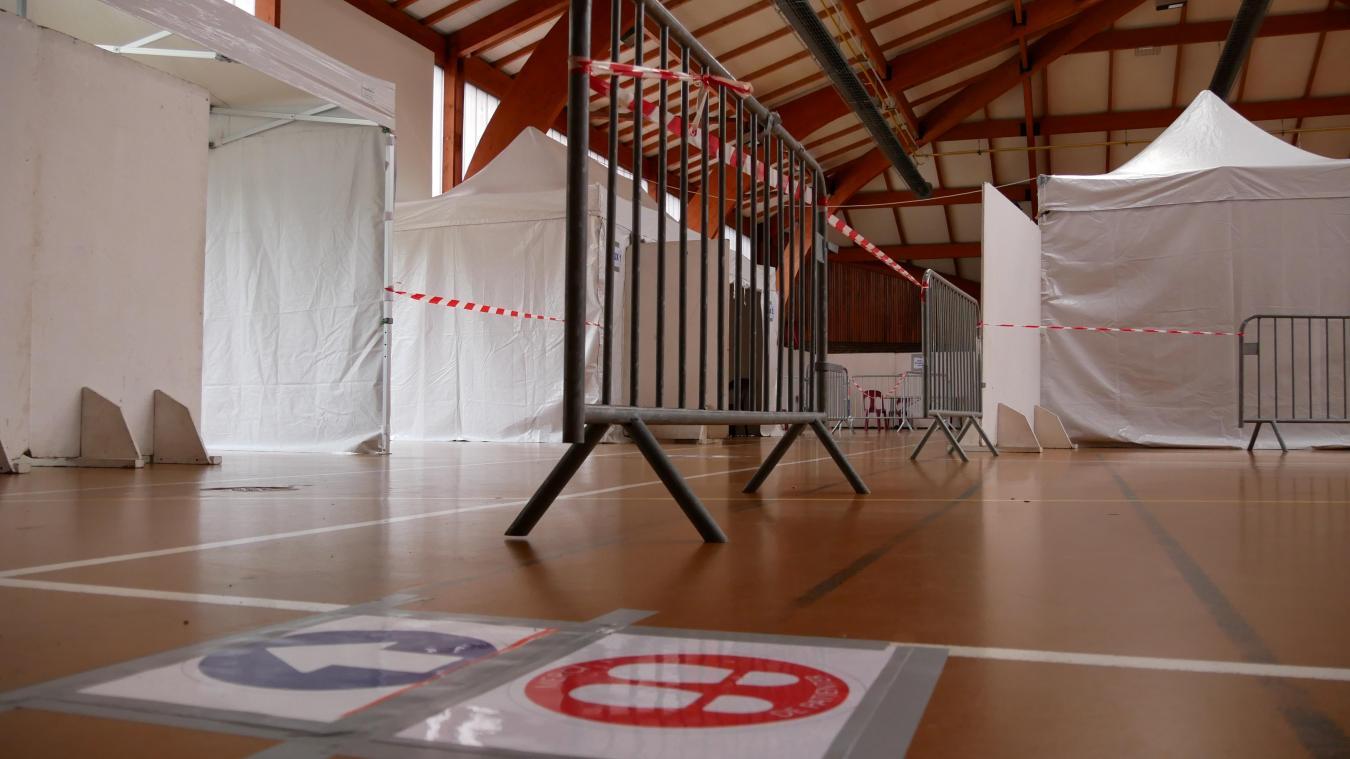 Auchel: à la veille de son ouverture, le centre de vaccination dans la dernière ligne droite