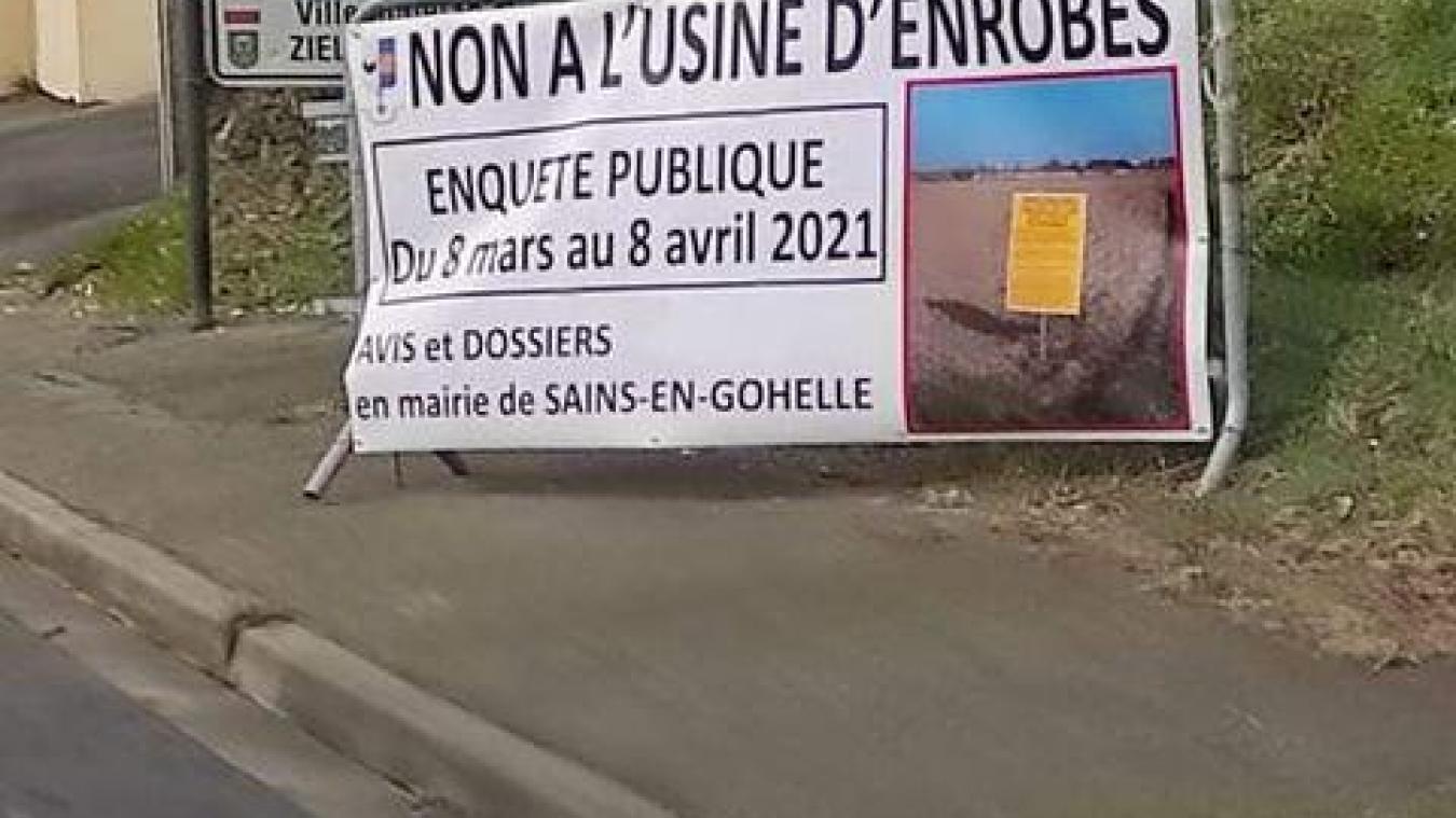 La consultation publique est accessible jusqu'au 8 avril en mairie de Sains-en-Gohelle.