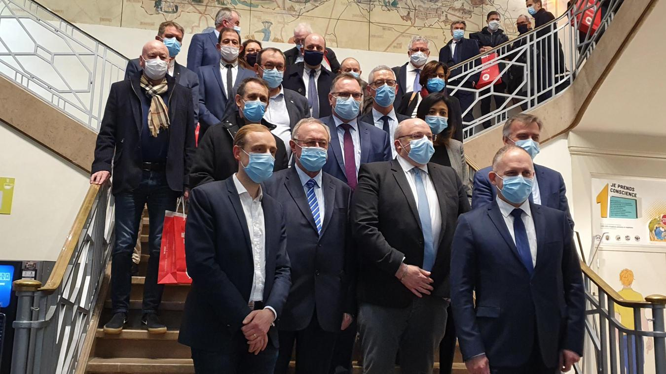 Les représentants de cinq intercommunalités se sont retrouvés jeudi 18 mars.