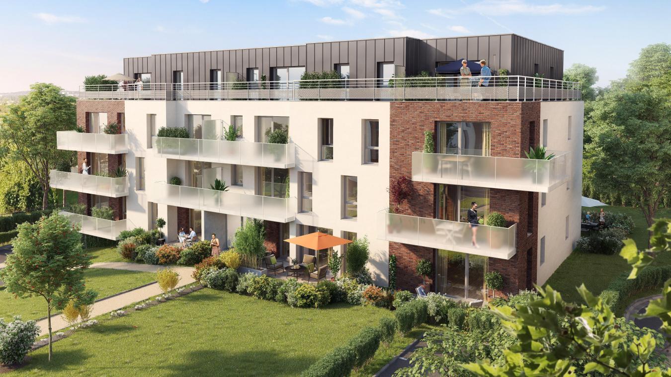 Ce à quoi devrait ressembler le bâtiment de logements collectifs sur l'ancien site des serres municipales.(©Ata.Archi).