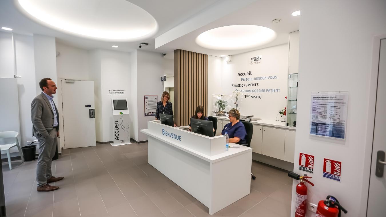 Il ne restera qu'un accueil central pour l'ensemble des différents services dans le nouveau projet de l'Espace santé Jean-Bart.