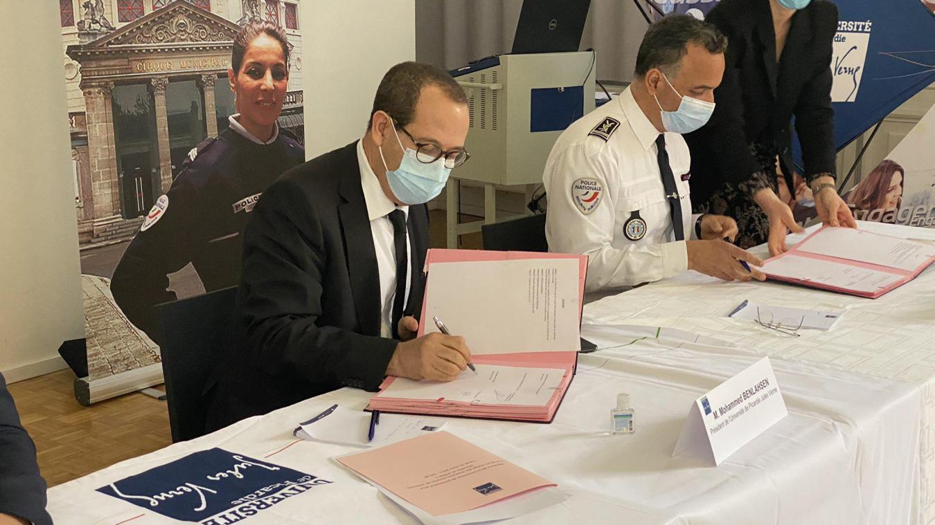 Le procureur de la République, le directeur départemental de la sécurité publique (DDSP) et l'association France Victimes 80 ont signé une convention de partenariat pour la prise en charge des étudiants victimes de violences sexuelles et sexistes.