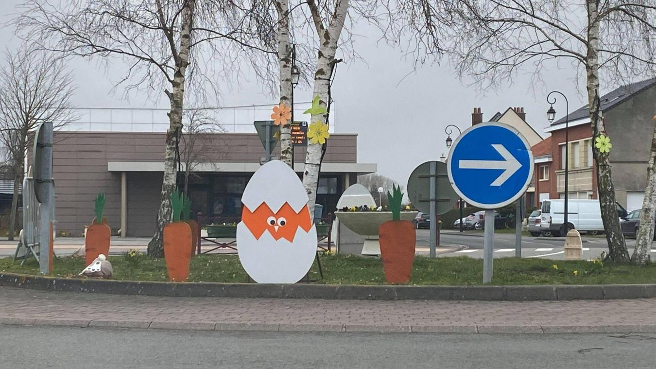 Les décorations ont été fabriquées par la municipalité.