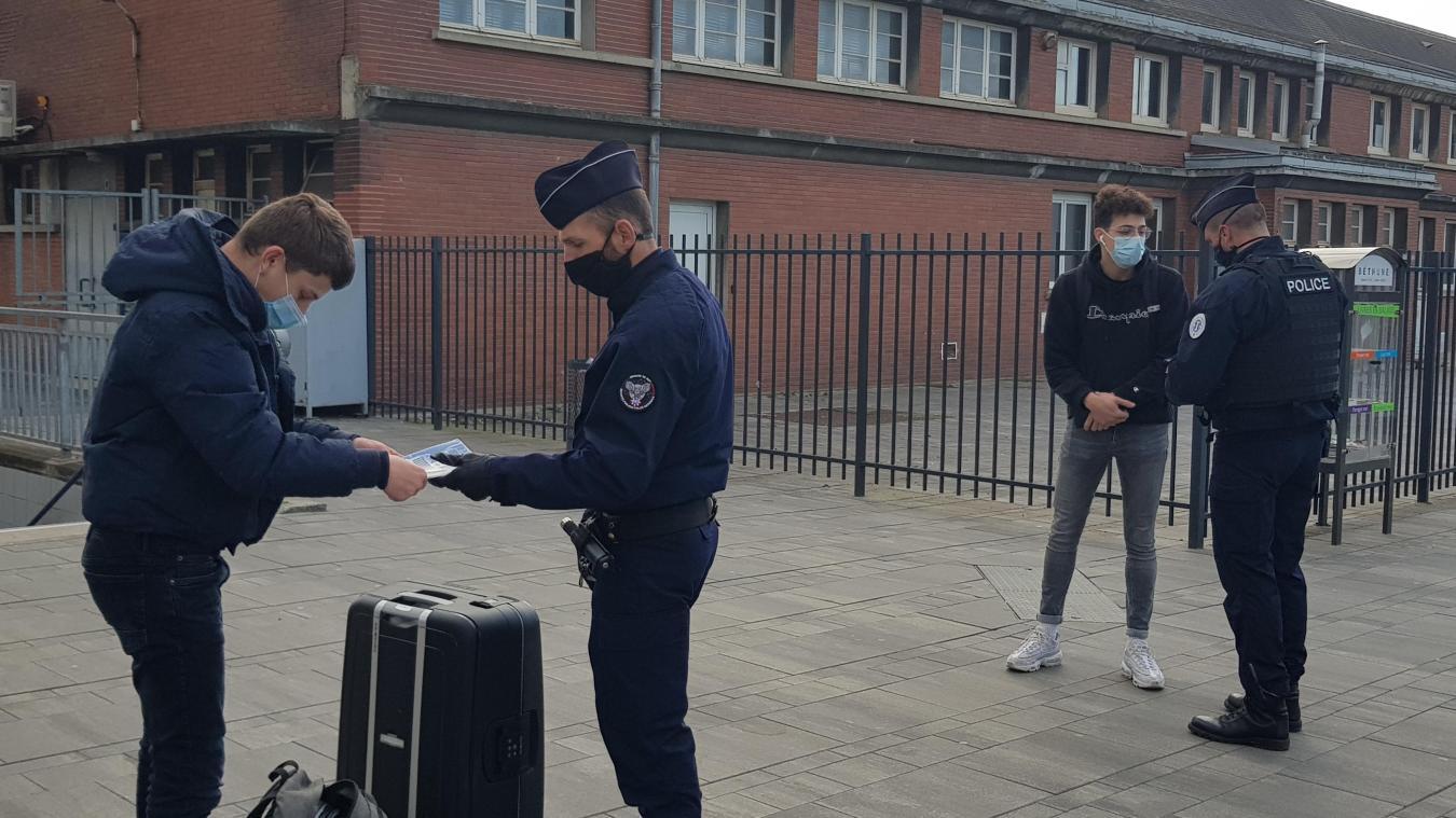 Béthune : la police a mené une grande opération de contrôle aux abords de la gare