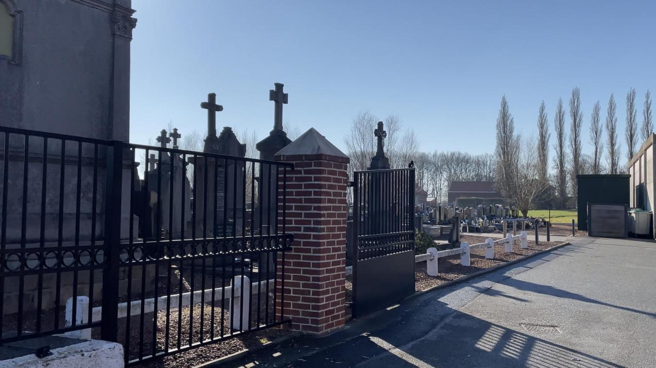 L'équipement sera installé à l'entrée du cimetière.
