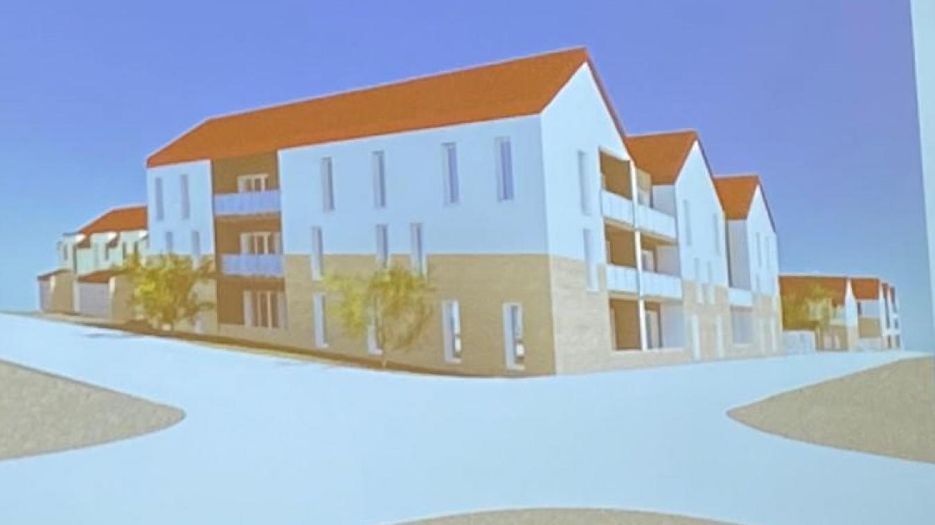 Voici le dessin définitif du projet qui va sortir de terre, rues du Citoyen-Goury et Waesendaele.