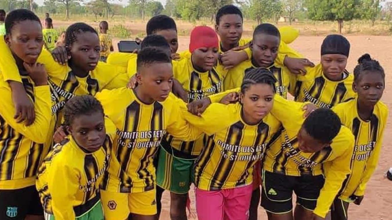 Les Ghanéens ont endossé le maillot des jeunes de Saint-Quentin, Aire-sur-la-Lys.