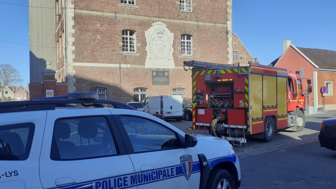 Un incendie s'est déclaré dans les cuisines du collège Sainte-Marie d'Aire-sur-la-Lys.