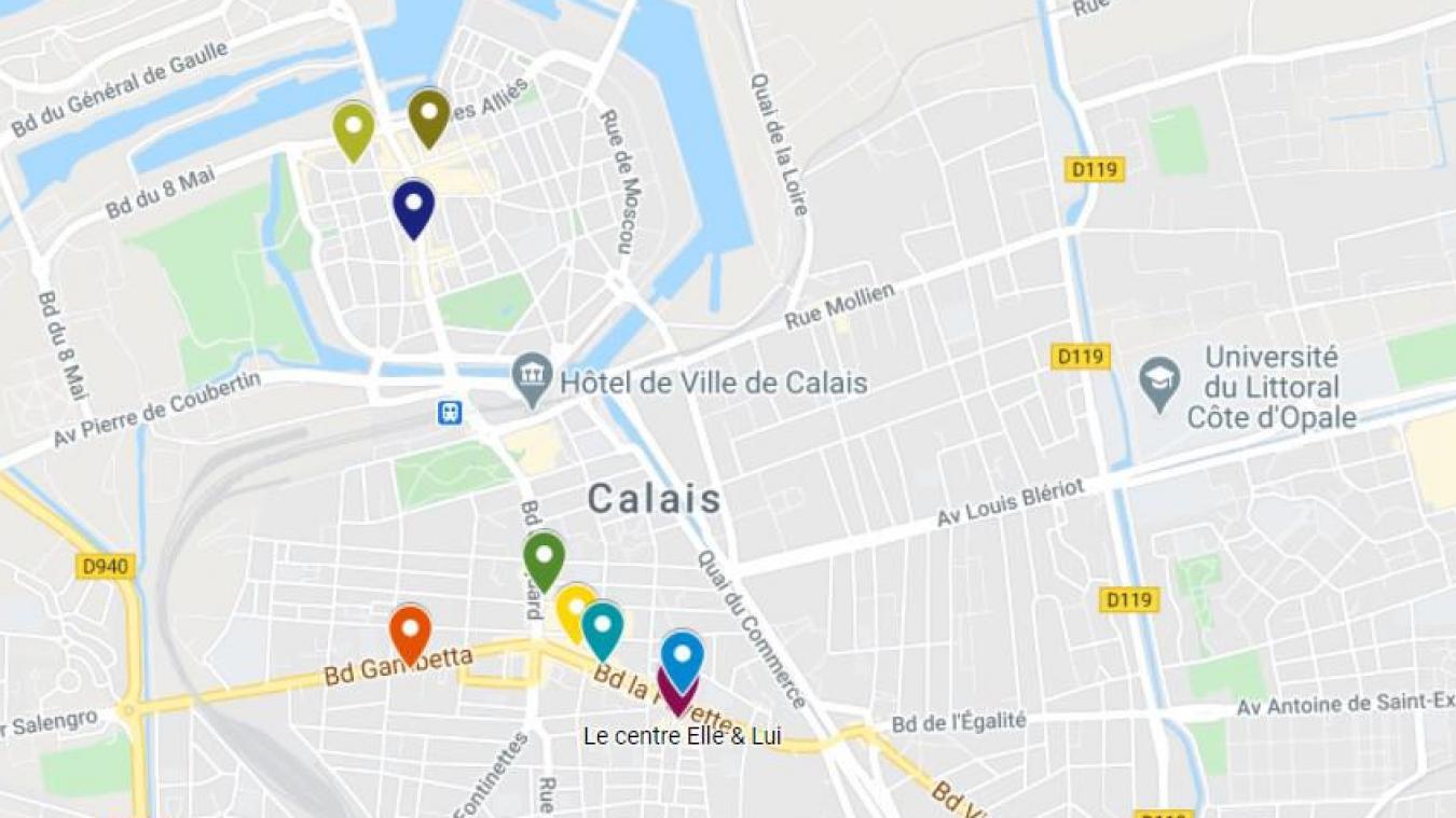 Cette carte recense les commerces de Calais et du Calaisis qui ne sont pas ouverts en raison du confinement.