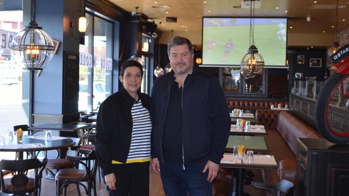 Élise et David Dewaele espèrent accueillir des salariés du BTP au Au Bureau d'Arras Bonnettes, leur pub brasserie.