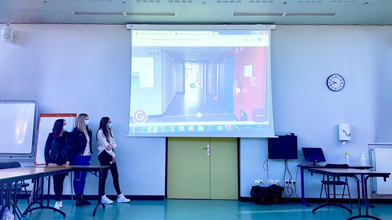 Un groupe d'élèves est venu présenter le travail réalisé en l'espace de deux semaines.