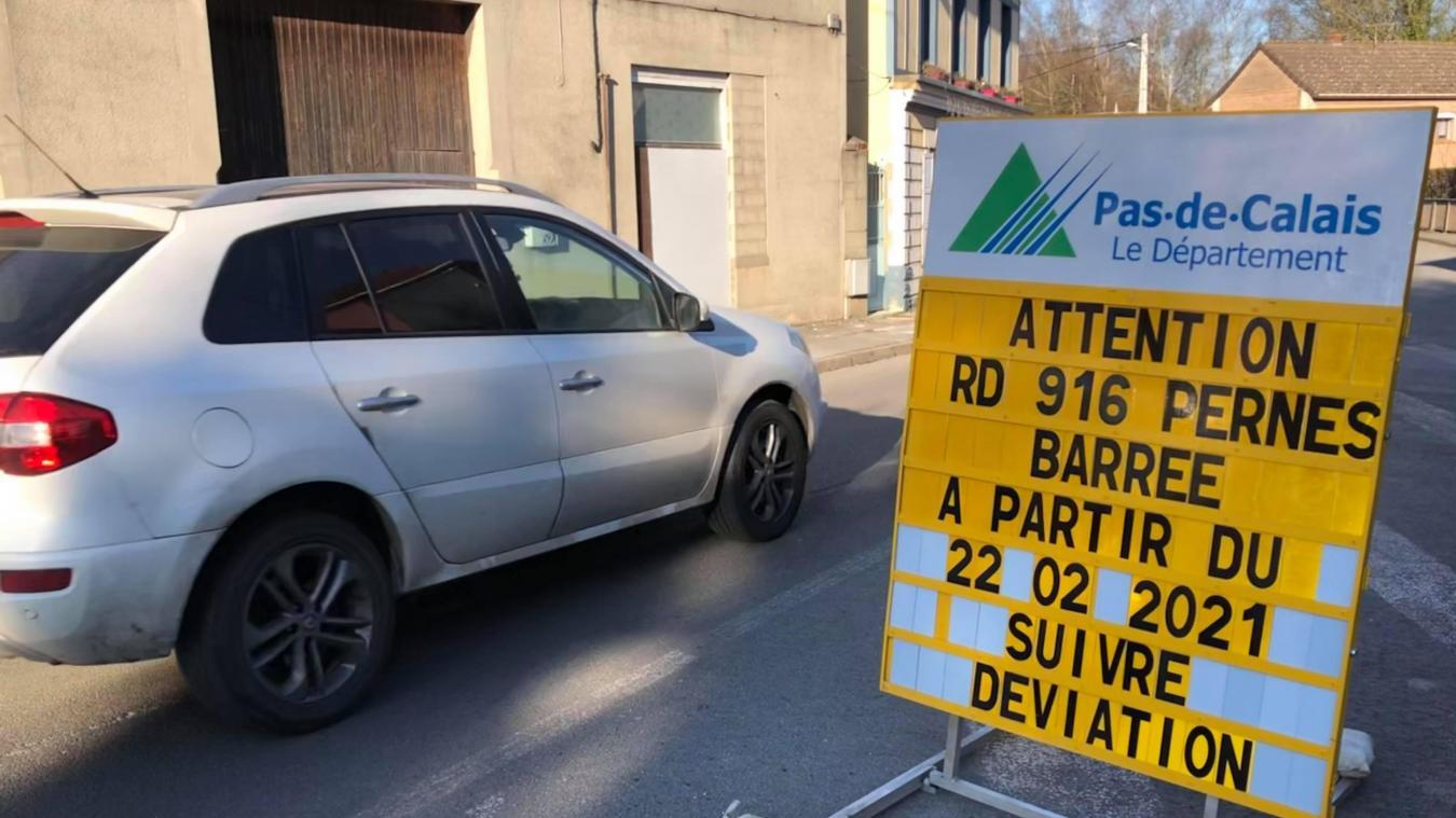 Pernes : une conduite de gaz percée sur le chantier de la rue de Saint-Pol