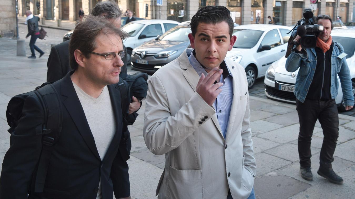 Jonathan Delay, lors du procès de Rennes, en 2015.