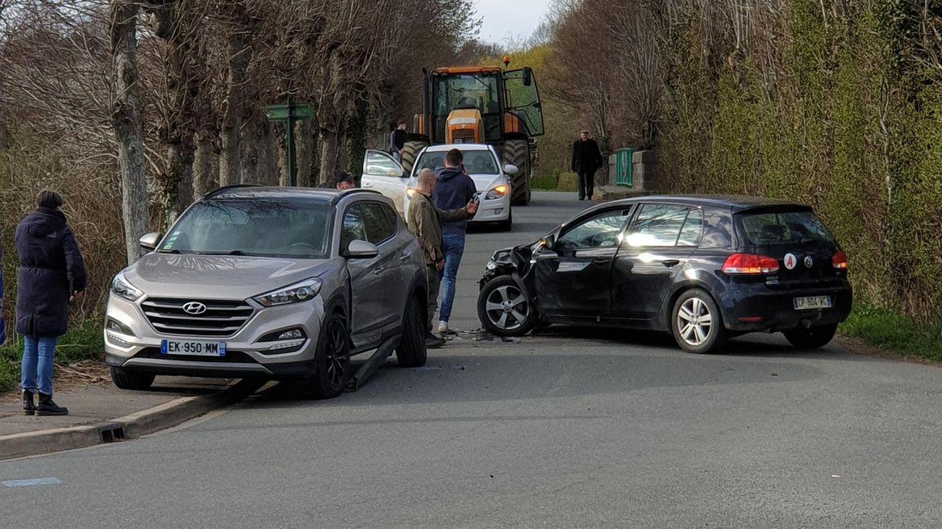 Une collision en ce lundi de Pâques à Crémarest.