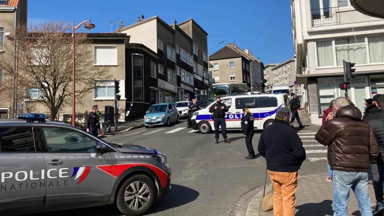 Les faits s'étaient produit à la mi-journée le mardi 9 mars, le périmètres avait été bouclé par la police.