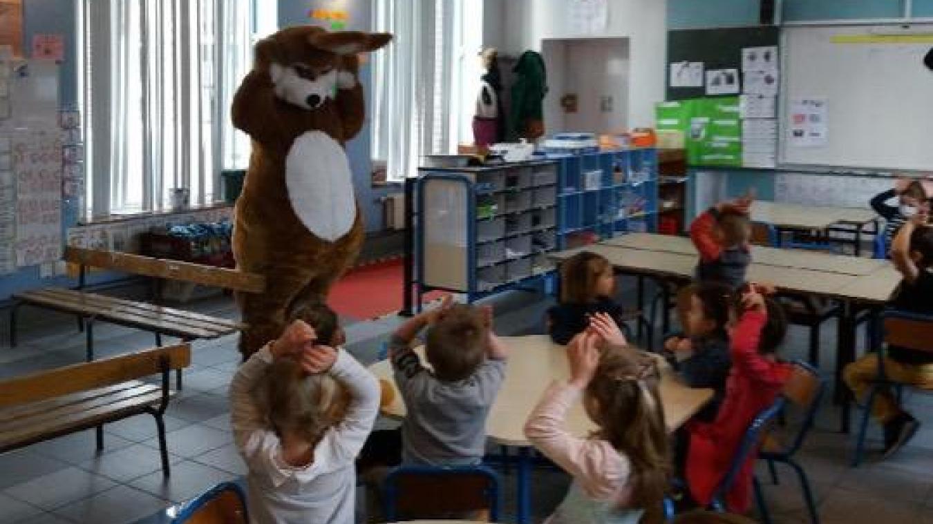 Le Lapin de Pâques est passé dans les classes de l'école.