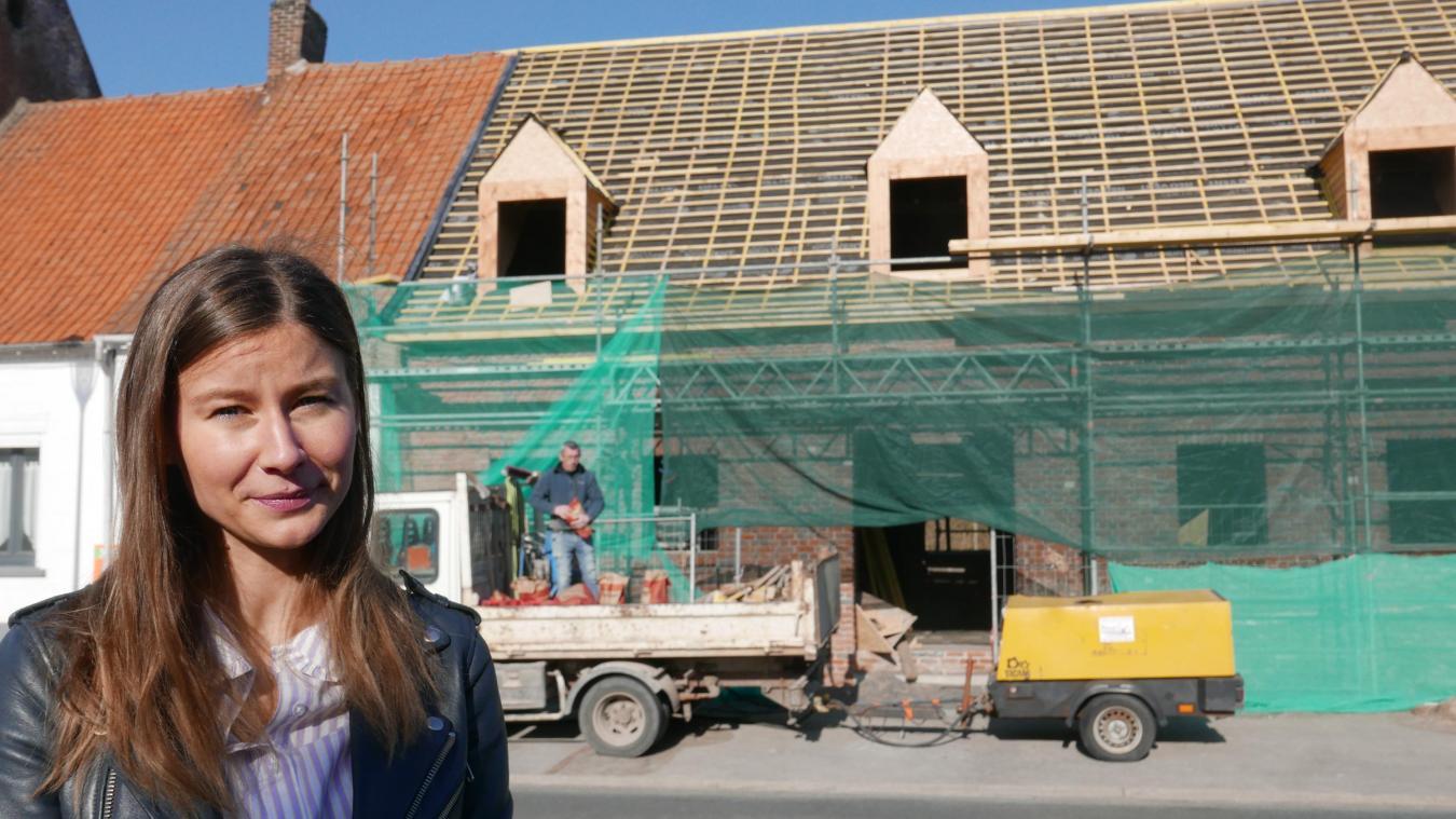 A 25 ans, Claire Lebray suit de près les travaux de sa future Annexe.
