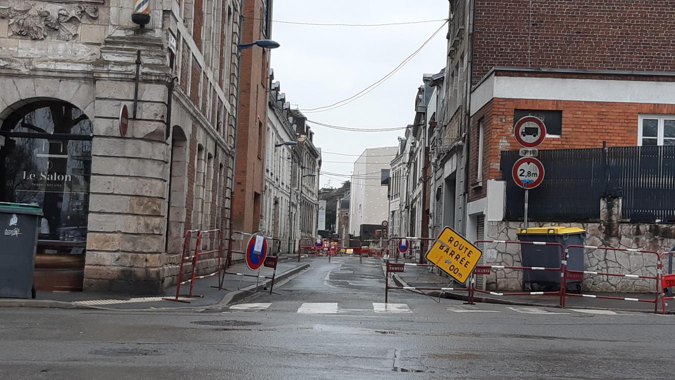 La rue Saint-Maurice sera fermée à la circulation jusqu'au 7 mai.