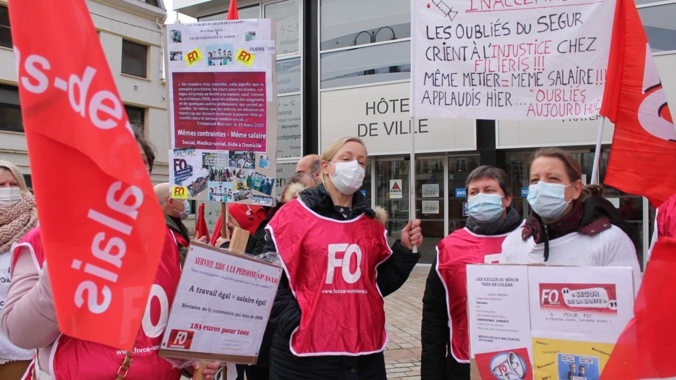 Jeudi 8 avril, 180 salariés de Filieris étaient présents pour revendiquer leurs droits.