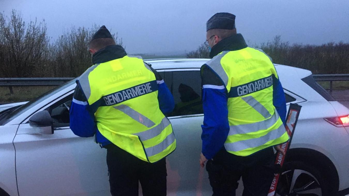 Les gendarmes ont arrêté le chauffard juste après le contrôle.