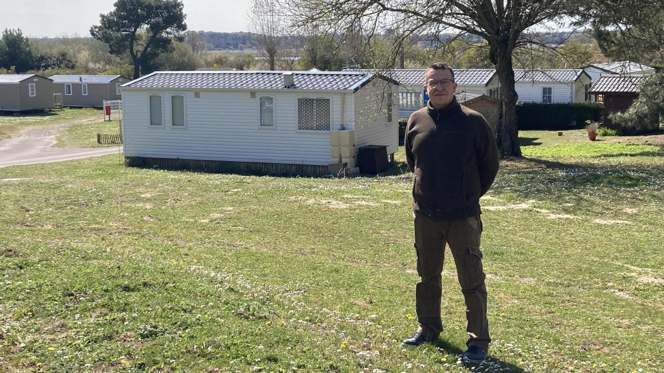Amaury Leclercq gère le camping de La Pinède depuis la saison touristique 2015.