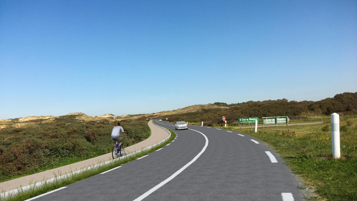 La piste cyclable empêchera également les véhicules de stationner le long de la route.