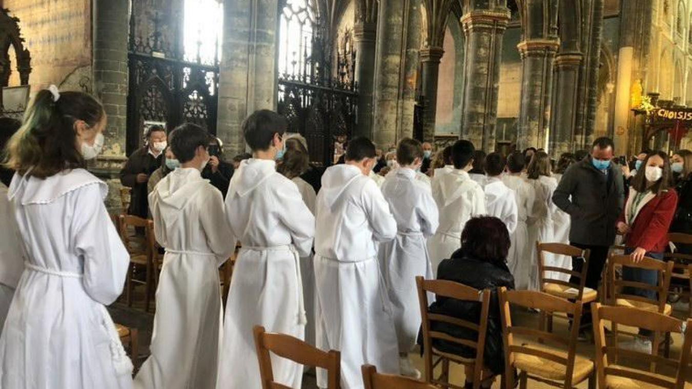 Week-end de communion pour les collégiens de Sainte-Marie, à Aire-sur-la-Lys