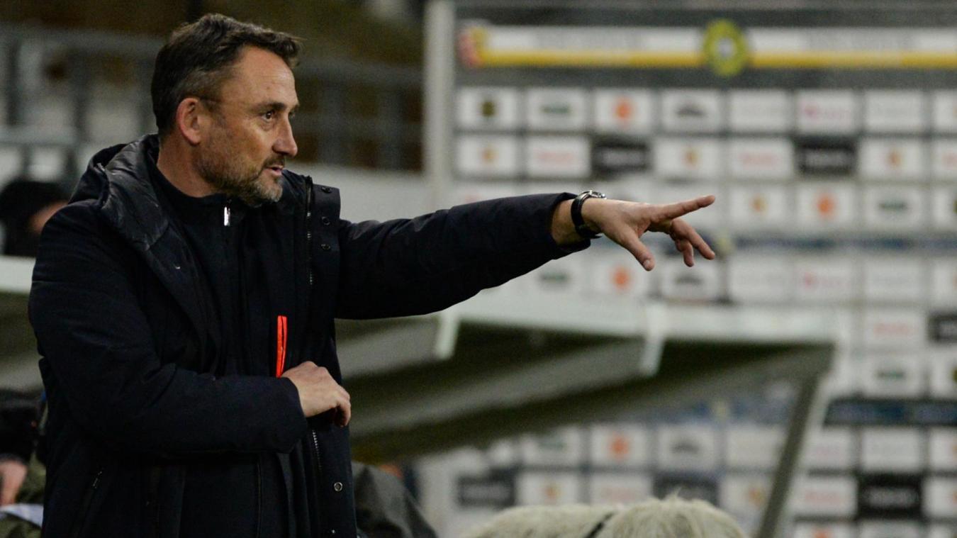 Franck Haise a été exclu par l'arbitre contre Brest.