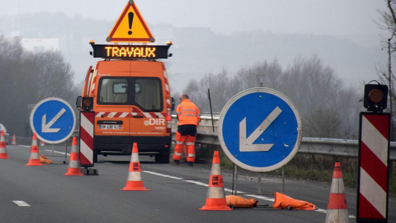 D'après la Dir, les travaux sur les bretelles de sortie de l'A16, en direction de Bourbourg et de Loon-Plage, ne devraient durer qu'une demi-journée.