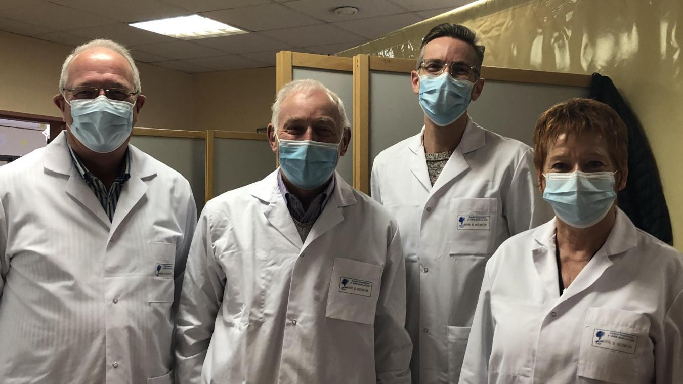 Parmi l'équipe qui vous reçoit au centre de vaccination cantonal installé à Aire-sur-la-Lys.