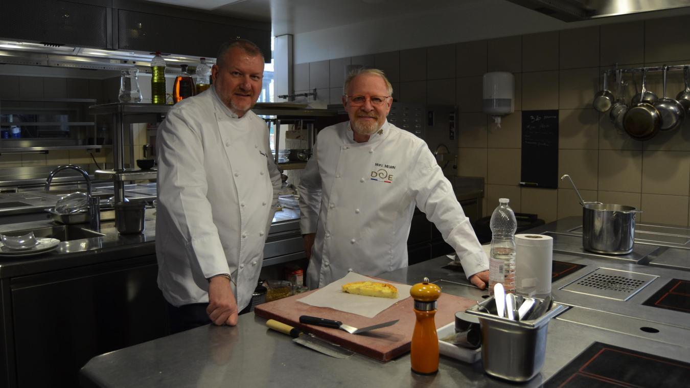 Marc Meurin va laisser sa place, dans les cuisines, au nouveau propriétaire Christophe Duffosé.
