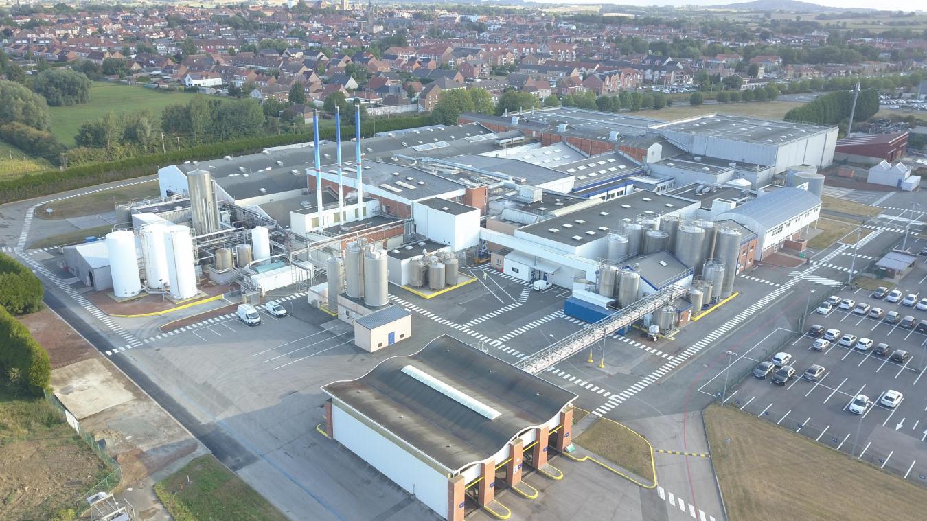 De ces cinq sites de productions de yaourts, le groupe Danone a choisi celui des Hauts-de-France, à Bailleul, pour investir 6 millions d'euros.