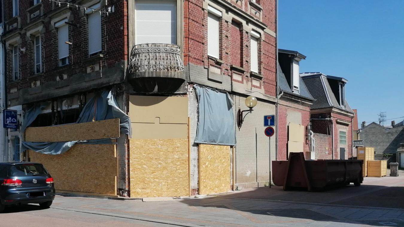 Le chantier de la future boulangerie Sophie, au 60 rue Carnot.