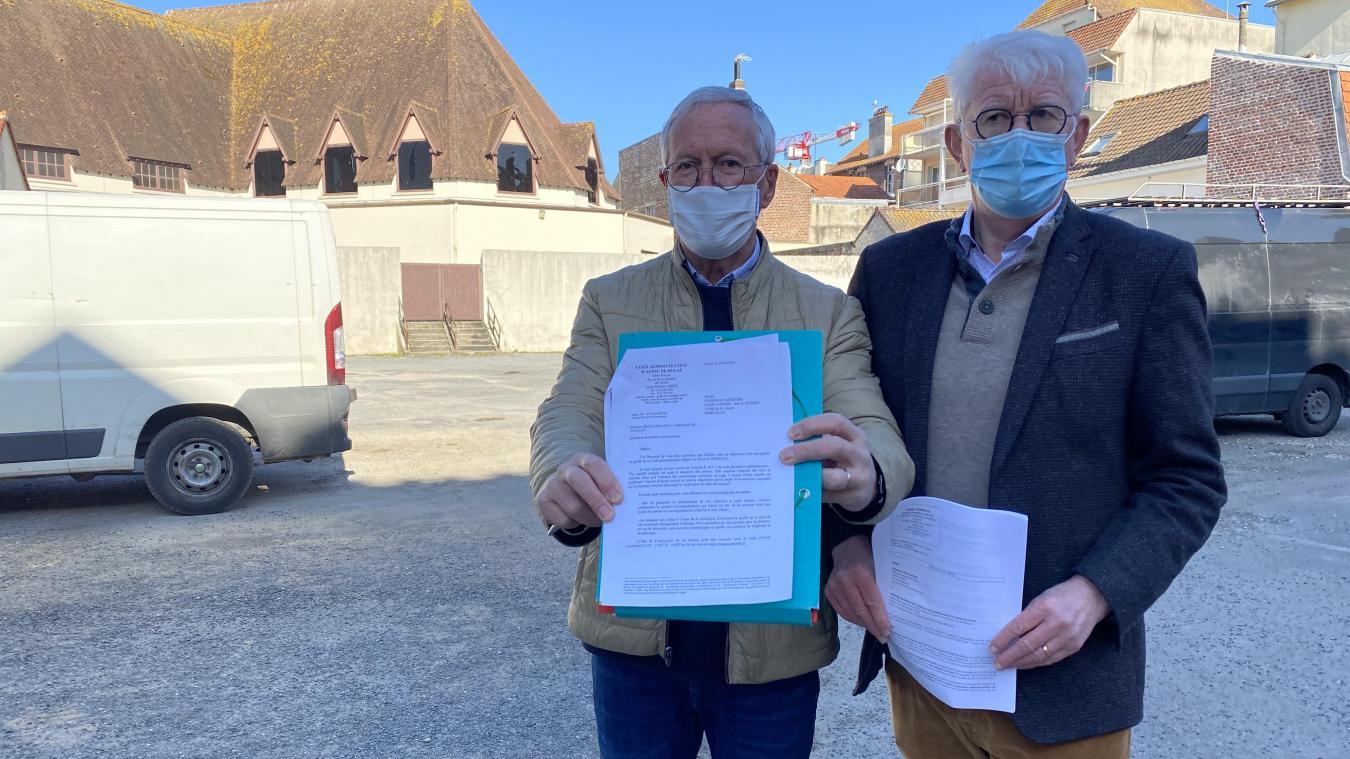 Régis Druelle et Michel Liénard viennent de faire appel devant la cour administrative d'appel de Douai, le 15 avril.