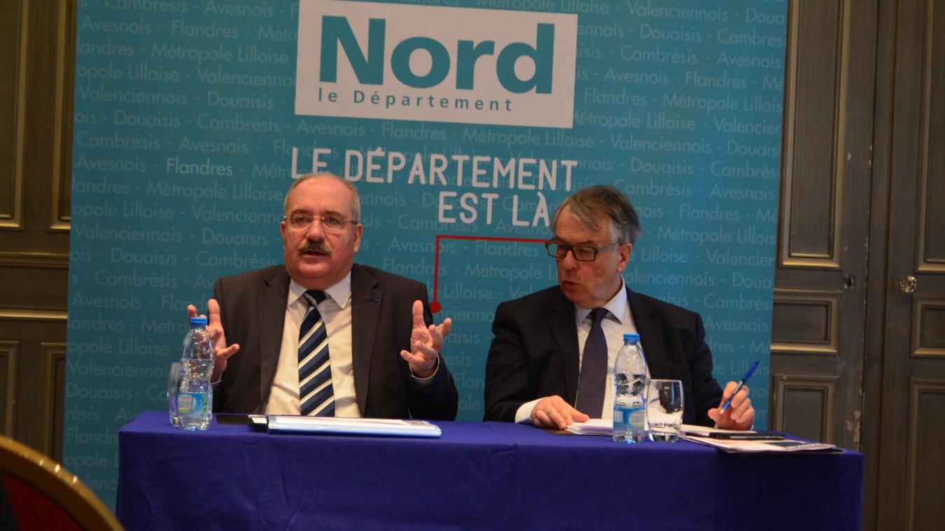 Christian Poiret (à gauche) a été désigné par le groupe majoritaire UPN pour succéder à Jean-René Lecerf pour les élections départementales de juin.
