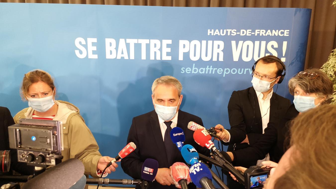 Xavier Bertrand a présenté ses têtes de liste pour les élections régionales, qui auront lieu en juin.