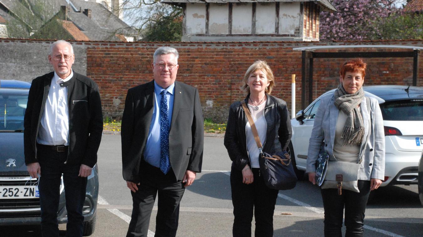 Edmond Zaborowski, Alain Méquignon, Françoise Vasseur et Véronique Lamoot, un quatuor