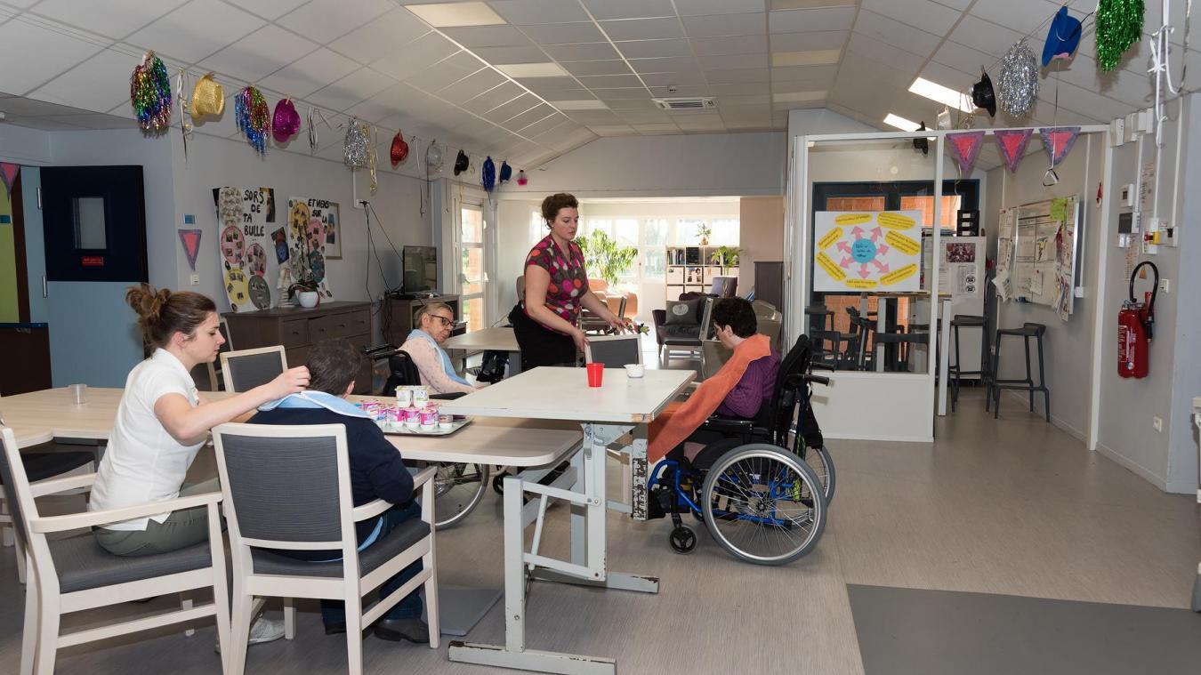 Durant la crise sanitaire, la vie quotidienne a été bousculée dans cette unité de vie du foyer d'accueil médicalisé La Marelle de Liévin.