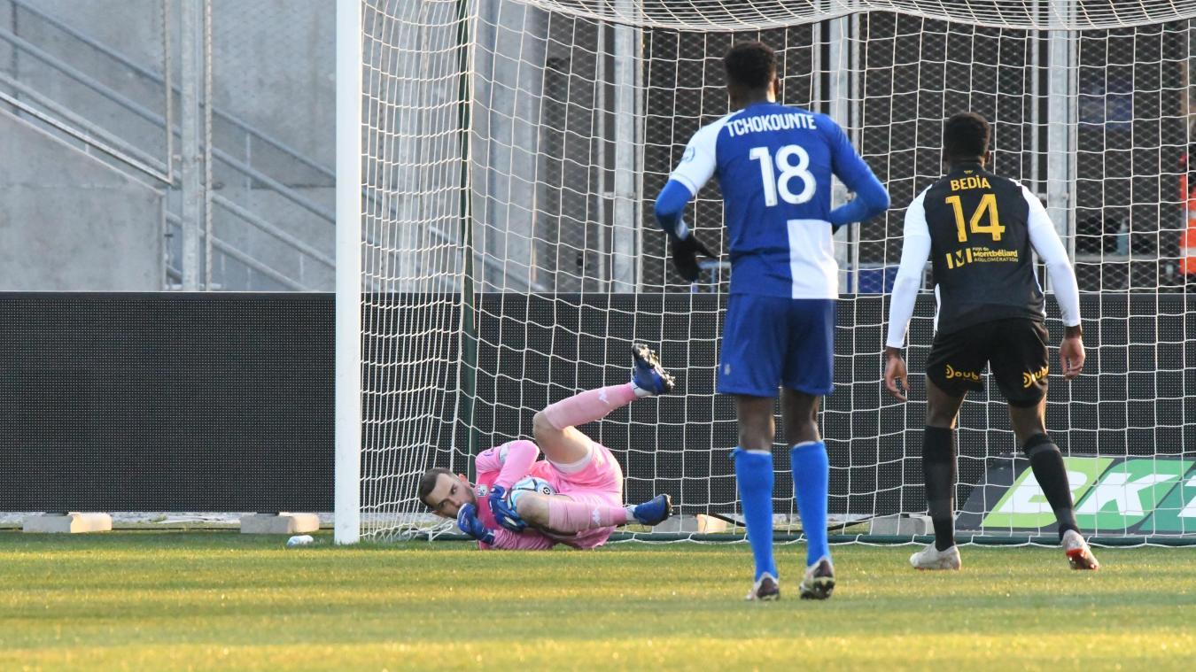 Samedi, face à Sochaux, Axel Maraval a écœuré par deux fois Bedia, l'attaquant sochalien. D'abord en repoussant son penalty, puis en sortant dans ses pieds.