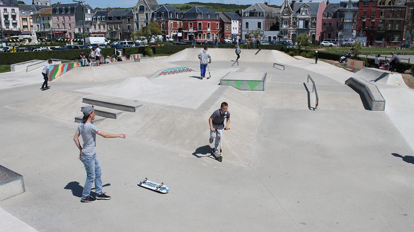 C'est le street park de Mers-les-Bains (photo mairie de Mers) qui a servi d'exemple pour le projet rangeois.