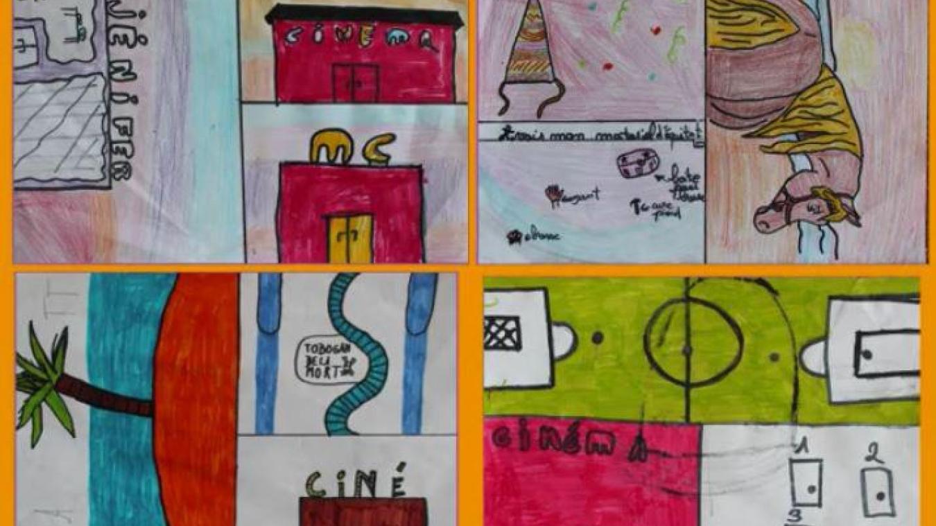 Les enfants de Looberghe se sont exprimés sur la Liberté avec leurs dessins.