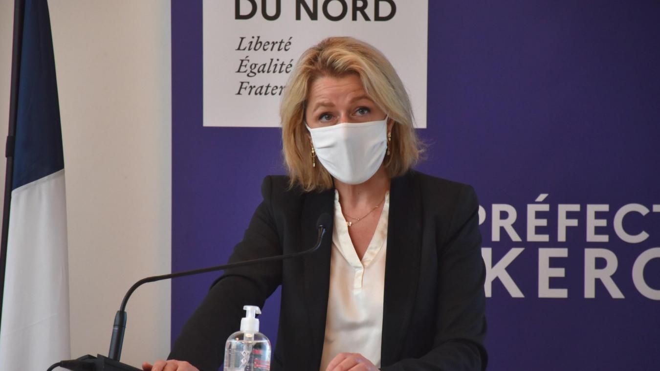 Barbara Pompili, ministre de la Transition écologique, est venue confirmer la poursuite du projet de parc éolien au large de Dunkerque.