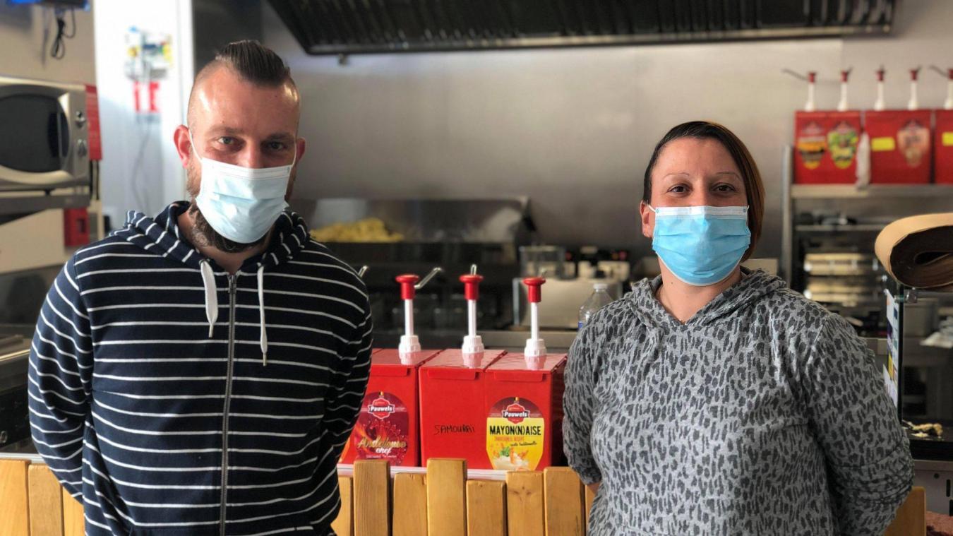 Grégory Devos a ouvert le snack O'Local à Estaires le 21 avril.