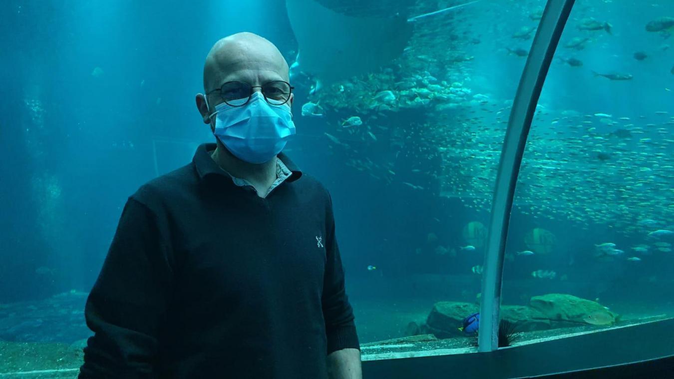 A 47 ans, Dominique Mallevoy est responsable de l'aquariologie à Nausicaá.